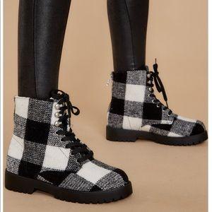 Buffalo check boots NEVER WORN